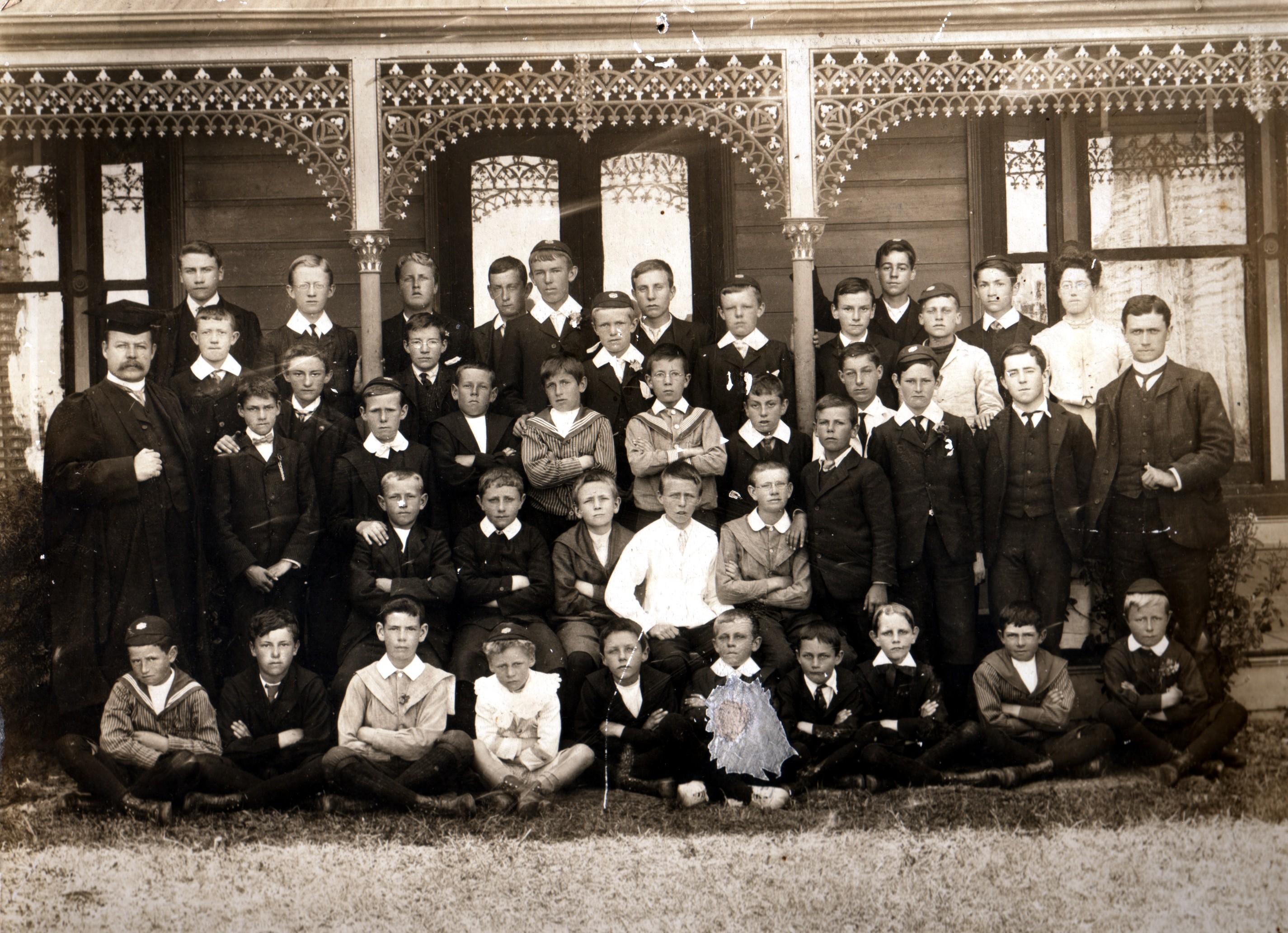 BHGS at Rose Street-Headmaster Murray Coghill at left- 1905